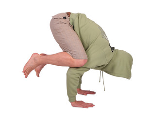man does handstand