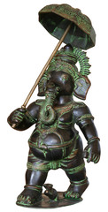 isolated Buddhist Statuette of elphant