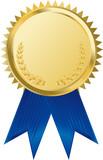 gold award ribbons poster