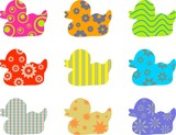 patterned ducks