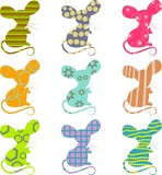 patterned mice poster