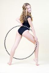 Girl and hoop