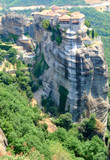 the Meteora - complex of orthodox monasteries in Greece poster