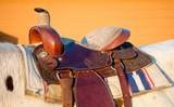 Close up of a saddle poster