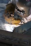 welding worker poster