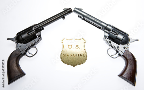 Revolvers And Badge