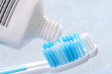 toothpaste and toothbrush poster