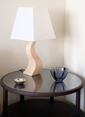 Sidetable with modern lamp