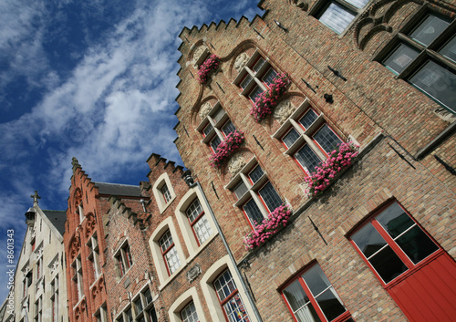 Brugge: typical houses.