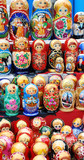 shop window with set of russian dolls of decreasing sizes poster