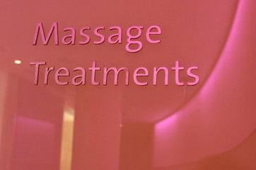 Massage treatments sign