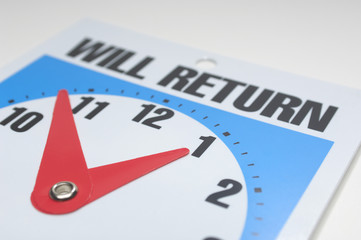 Will return clock, close-up