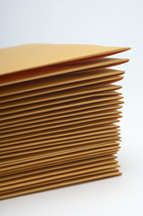 Stack of brown envelopes