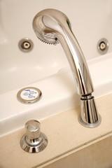 Showerhead in jacuzzi tub
