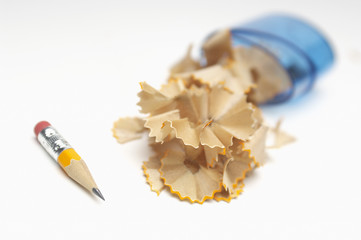 Small pencil with shavings