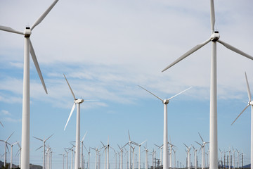 Wind turbines at wind farm