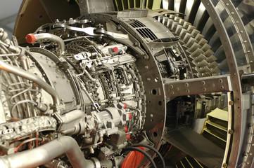 large jet engine component detail