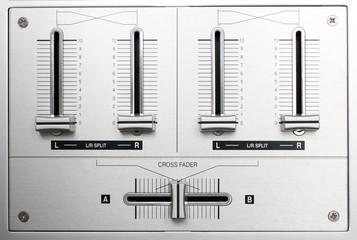 fading controls of dj music mixer