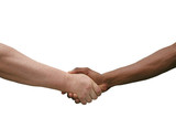 Multiracial Handshake Isolated on White poster