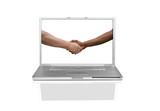Multiracial Handshake Agreement poster