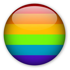 Gay Pride Flag button