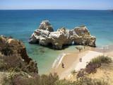 Fototapety Crique, plage et rocher de la Côte de l'Algarve, Portugal