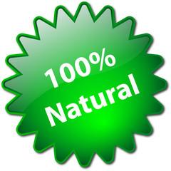 """100% Natural"" stamp"