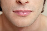 Beauty shot of man's lips