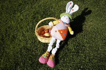 Doll and Easter egg basket