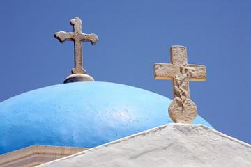 Blue church dome