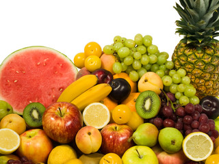 Fresh Fruits Isolated. Healthy Eating series