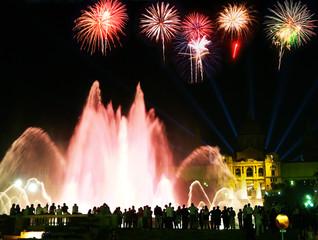 The Montjuic Fountain in Barcelona