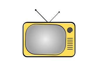 Televisore giallo