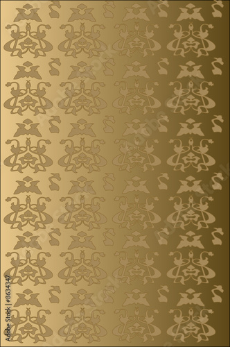 Art nouveau wallpaper from str13 royalty free vector for Art nouveau wallpaper uk