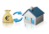 Transaction immobilière (reflet) poster
