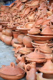 Terracotta pottery on display