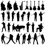 Fototapety collection of musician and music object vector