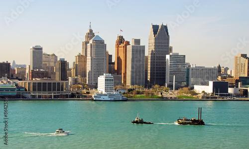 Leinwanddruck Bild Detroit, Michigan