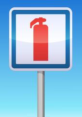 Panneau de signalisation extincteur