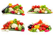 Different vegetables isolated