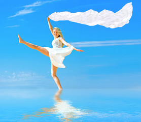 """walk on water and fly like wind - of """"Beach"""" series"""
