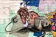 Fototapete Befragung - Maus - Graffiti