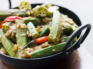 Karahi Dish with Bhindi Masala