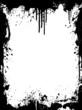 Ink splatter grunge frame