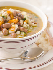 Tuscan Bean Soup with Crusty Bread
