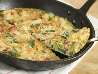 Slice of Courgette Fritatta