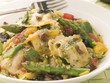 Roasted Vegetable Ravioli with Pesto Dressing Sun Blushed Tomato