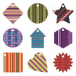 gift tags with stripe designs