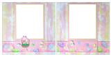 Easter Theme 12 X 12 Digital Scrapbook Layout poster