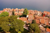 View at Rovinj and the adriatic sea poster